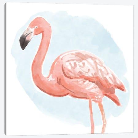 Tropical Flamingo I Canvas Print #BNR77} by Bannarot Canvas Artwork