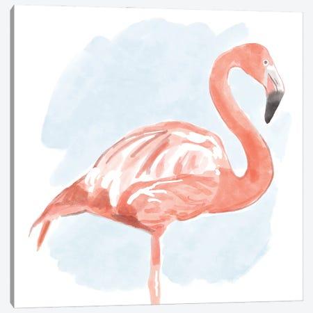 Tropical Flamingo II Canvas Print #BNR78} by Bannarot Art Print