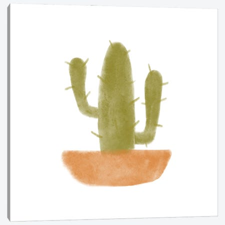 Watercolor Cactus V Canvas Print #BNR86} by Bannarot Art Print