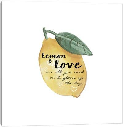 Citrus Limon Sentiment II Canvas Art Print