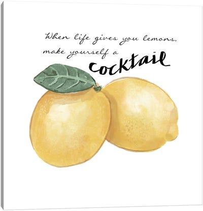 Citrus Limon Sentiment III Canvas Art Print