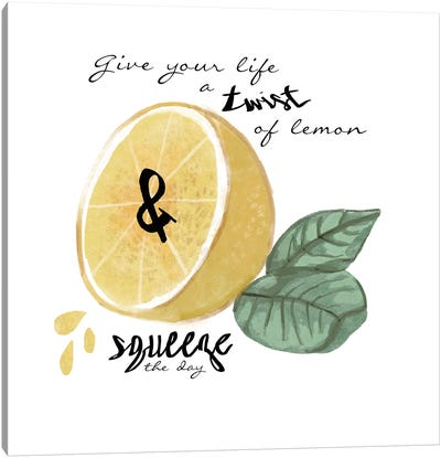Citrus Limon Sentiment IV Canvas Art Print