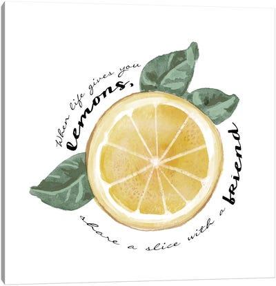 Citrus Limon Sentiment V Canvas Art Print