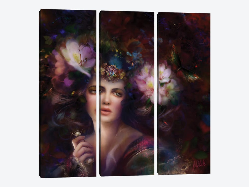 Eden by Bente Schlick 3-piece Canvas Print