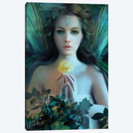 Emerald Canvas Print #BNT14} by Bente Schlick Canvas Artwork