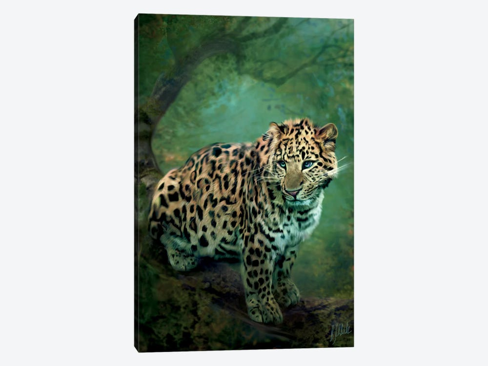 Leopard by Bente Schlick 1-piece Canvas Art Print