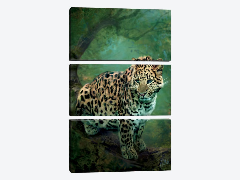 Leopard by Bente Schlick 3-piece Canvas Art Print