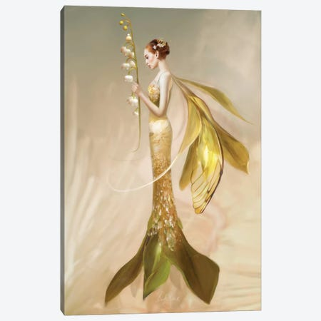 Lily Of The Valley Canvas Print #BNT29} by Bente Schlick Canvas Artwork