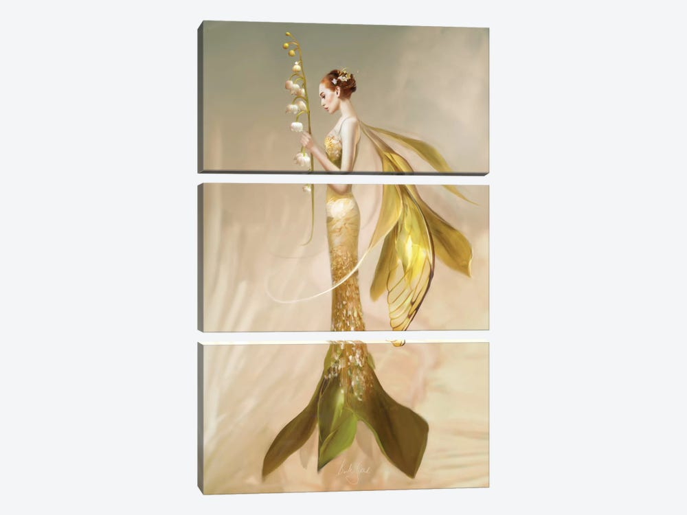 Lily Of The Valley by Bente Schlick 3-piece Canvas Artwork
