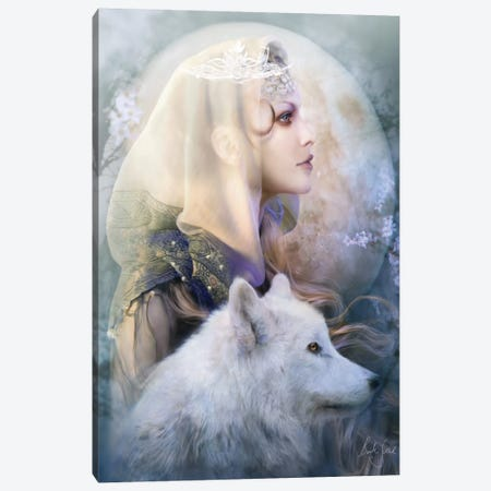 Luna Canvas Print #BNT30} by Bente Schlick Canvas Art Print