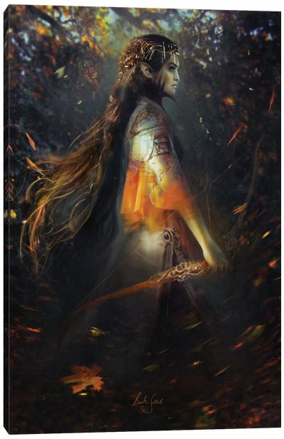 Phoenix Warrior Canvas Art Print