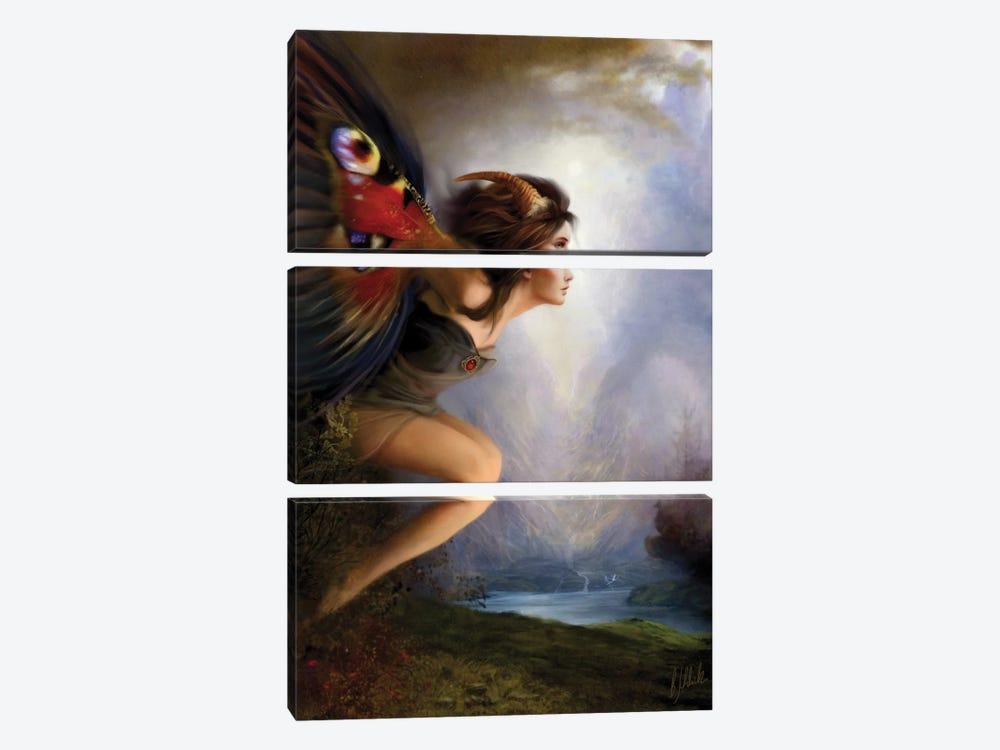 Poesie by Bente Schlick 3-piece Canvas Print