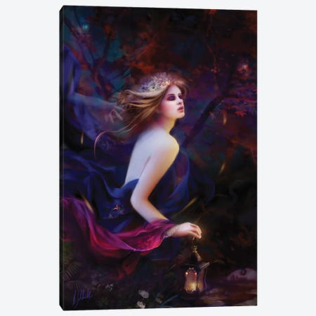 Purpur Dreams Canvas Print #BNT39} by Bente Schlick Canvas Print