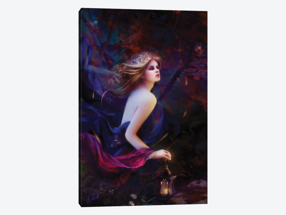 Purpur Dreams by Bente Schlick 1-piece Canvas Print