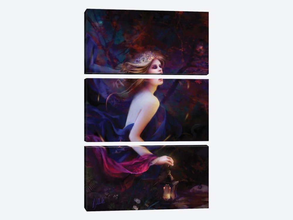 Purpur Dreams by Bente Schlick 3-piece Canvas Art Print