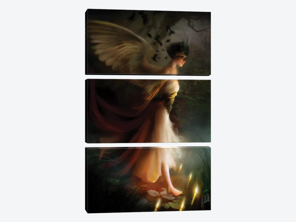Sleepwalker by Bente Schlick 3-piece Canvas Wall Art