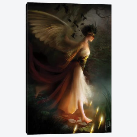 Sleepwalker Canvas Print #BNT41} by Bente Schlick Canvas Art