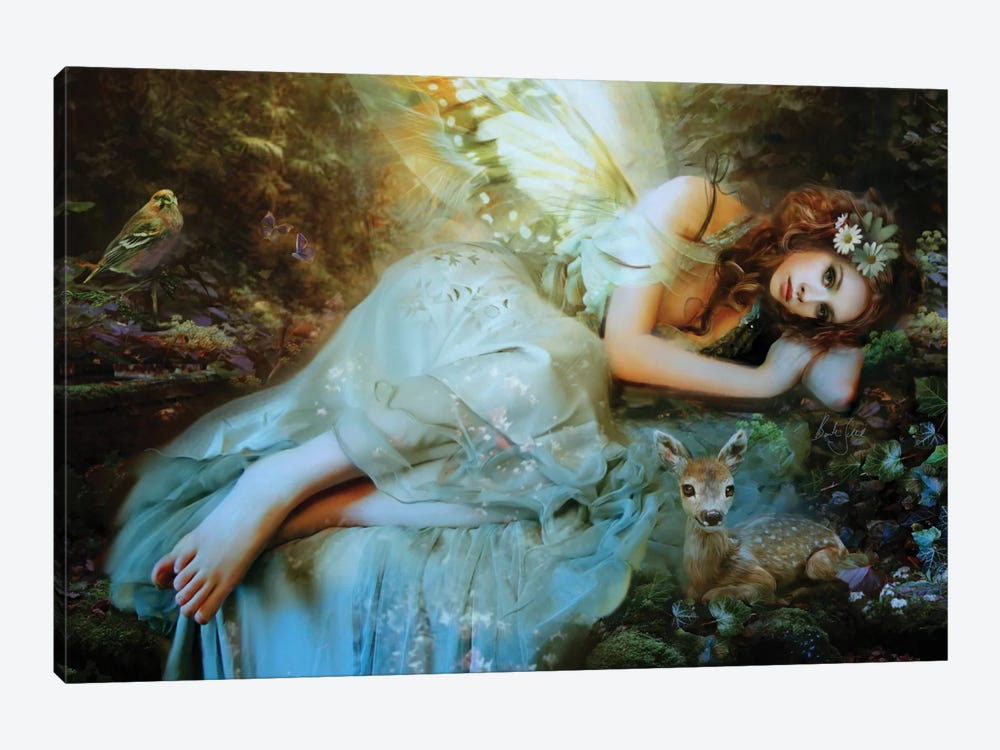 Spring Fairy by Bente Schlick 1-piece Canvas Art Print