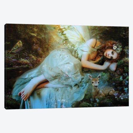 Spring Fairy Canvas Print #BNT44} by Bente Schlick Canvas Print