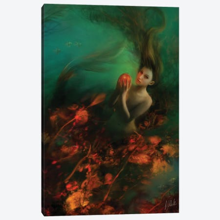Tangerine Canvas Print #BNT47} by Bente Schlick Canvas Print