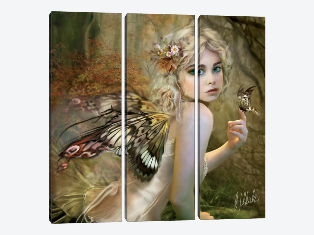 Touch Of Gold by Bente Schlick 3-piece Canvas Art Print