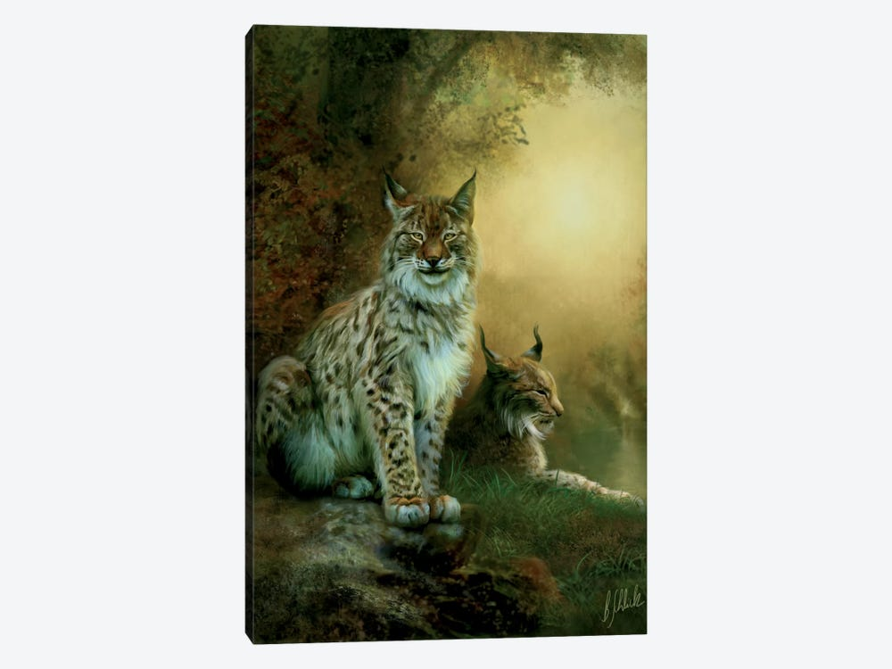 Two Lynxes by Bente Schlick 1-piece Canvas Art