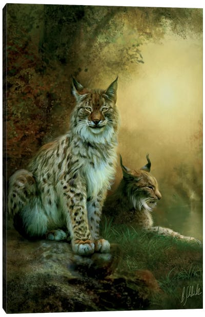 Two Lynxes Canvas Art Print