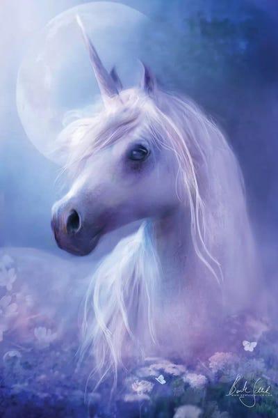 Canvas Pictures Fantasy Unicorn Mystical Creature Colourful Art Poster