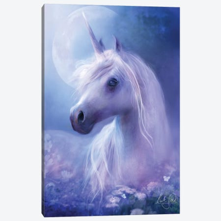 Unicorn Moon Canvas Print #BNT50} by Bente Schlick Art Print