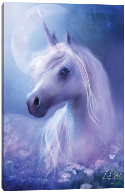 Unicorn Moon Canvas Art Print