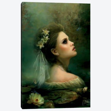 Waterlily Canvas Print #BNT51} by Bente Schlick Canvas Print