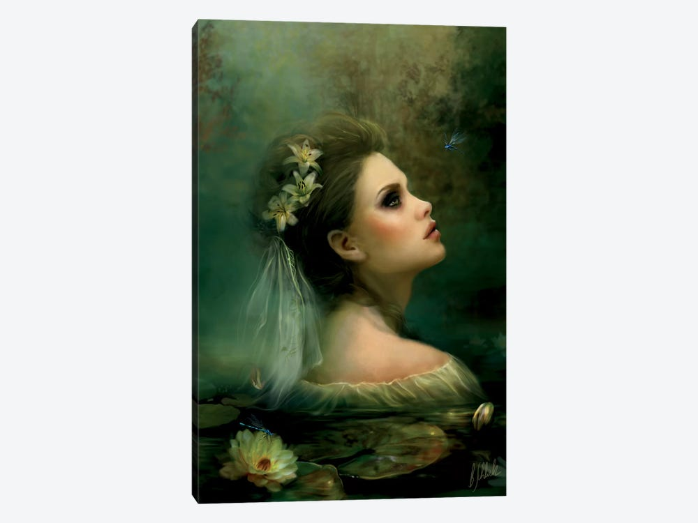 Waterlily by Bente Schlick 1-piece Canvas Print