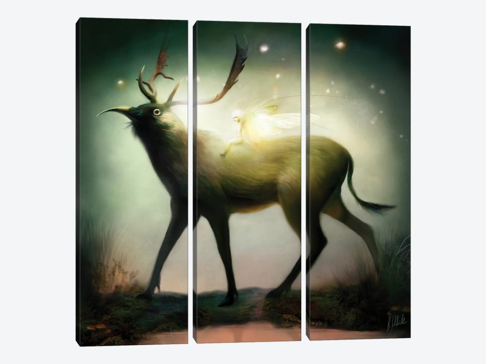 Whimsical by Bente Schlick 3-piece Canvas Wall Art