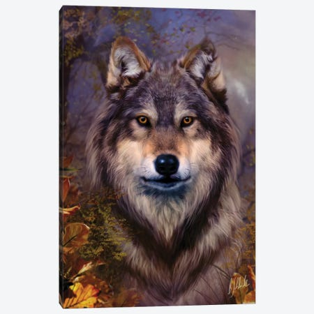 Wolf Variant I Canvas Print #BNT53} by Bente Schlick Canvas Print