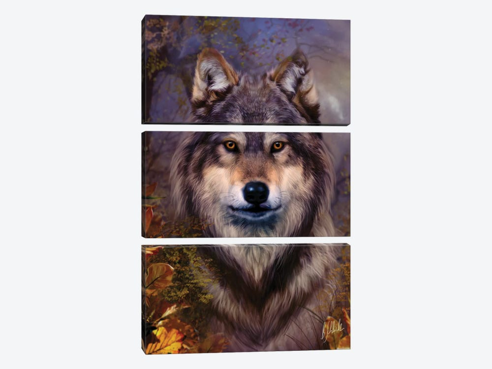 Wolf Variant I by Bente Schlick 3-piece Canvas Print