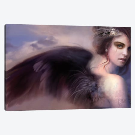 As I Sing I Rise Today Canvas Print #BNT54} by Bente Schlick Canvas Wall Art