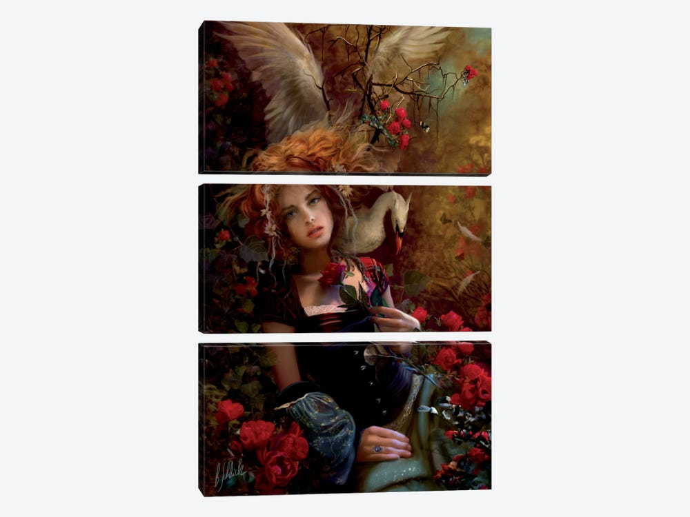 Be Still My Troubled Heart by Bente Schlick 3-piece Canvas Print