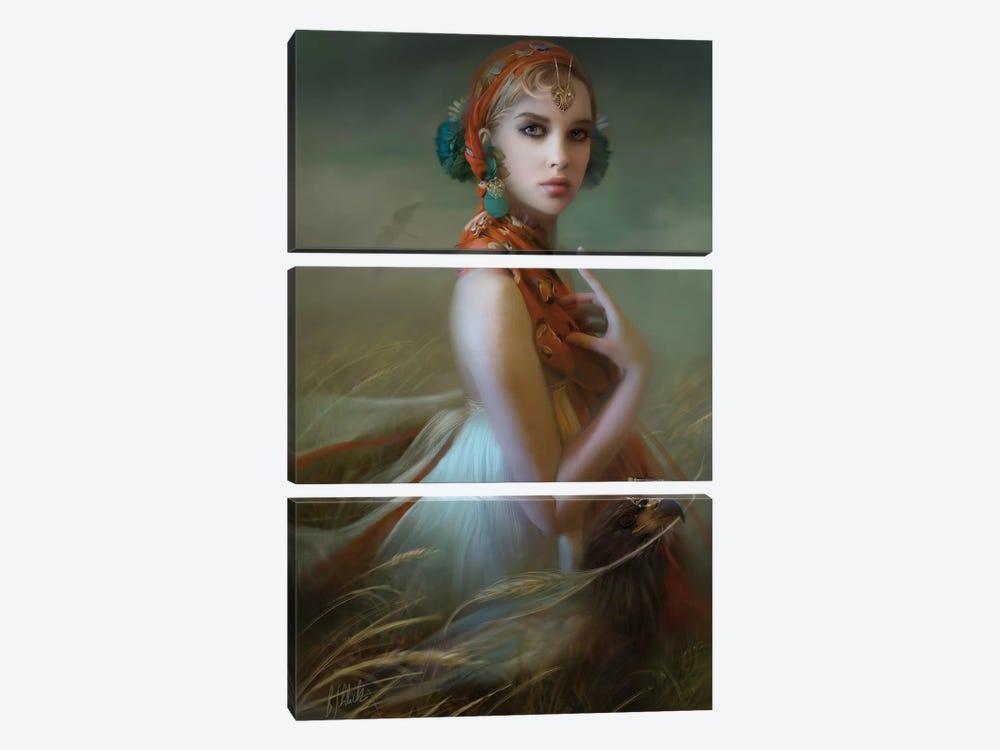 Carmine Fields by Bente Schlick 3-piece Canvas Art Print