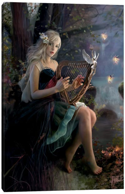 Enchanted Music Canvas Art Print