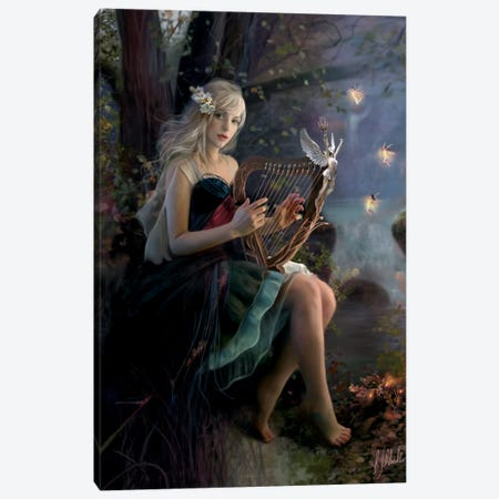 Enchanted Music Canvas Print #BNT64} by Bente Schlick Canvas Print