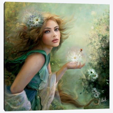 Herald Of Spring Canvas Print #BNT67} by Bente Schlick Art Print