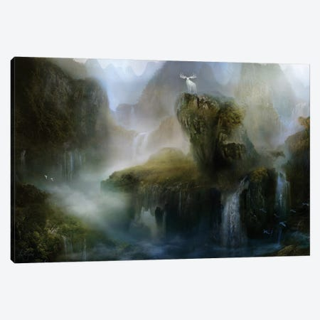 His Realm Canvas Print #BNT68} by Bente Schlick Canvas Artwork