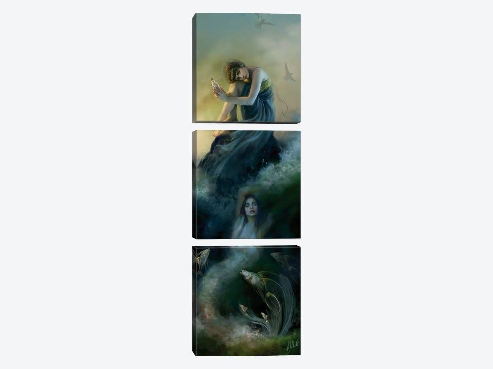 I Hear Voices by Bente Schlick 3-piece Canvas Artwork