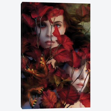 Just The Wind In The Trees Canvas Print #BNT70} by Bente Schlick Art Print