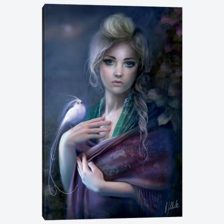 Nightingale Canvas Print #BNT77} by Bente Schlick Canvas Artwork