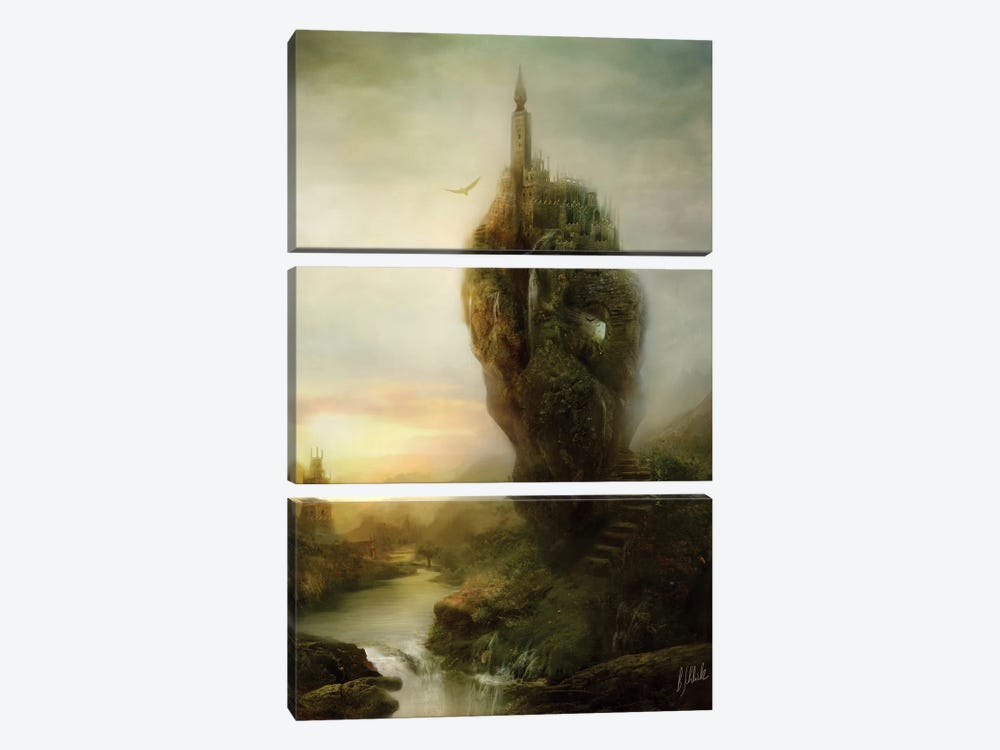 Over There by Bente Schlick 3-piece Canvas Print