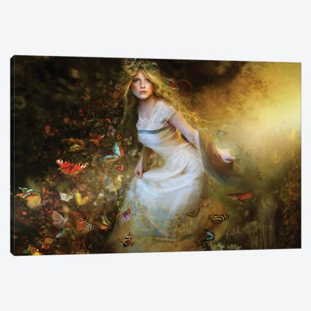 Summer Dancer, Horizontal Canvas Print #BNT84} by Bente Schlick Canvas Print