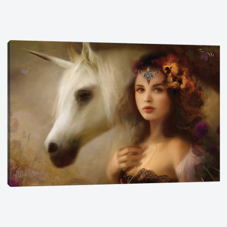 Unicorn Canvas Print #BNT87} by Bente Schlick Art Print
