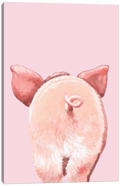 Pig Butt Canvas Art Print