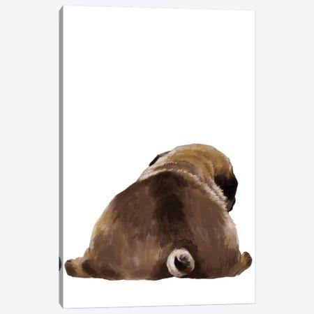 Pug Butt Canvas Print #BNW108} by Big Nose Work Canvas Artwork